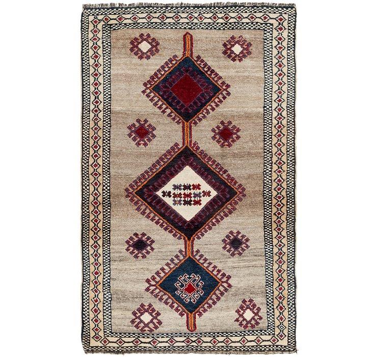 4' 3 x 7' 2 Shiraz-Gabbeh Persian Rug