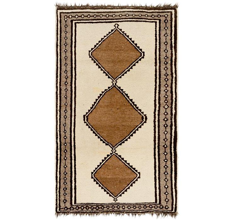3' 6 x 6' 8 Shiraz-Gabbeh Persian Rug