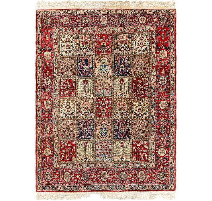 4' 8 x 6' 7 Qom Persian Rug