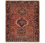 Link to 4' 8 x 6' Gharajeh Persian Rug