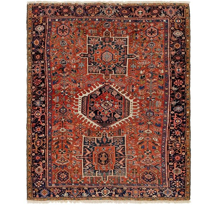 4' 8 x 6' Gharajeh Persian Rug