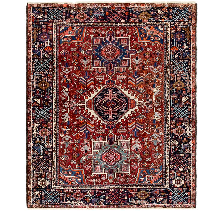 152cm x 183cm Gharajeh Persian Rug