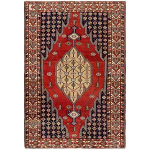 4' 4 x 6' 8 Mazlaghan Persian Rug