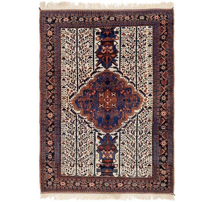 4' x 5' 10 Varamin Persian Rug