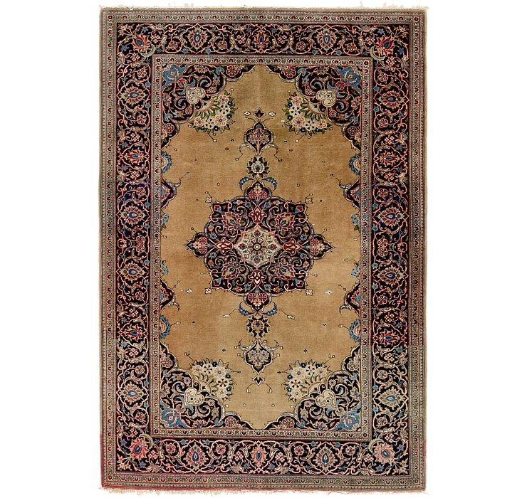 4' 4 x 6' 9 Kashan Persian Rug