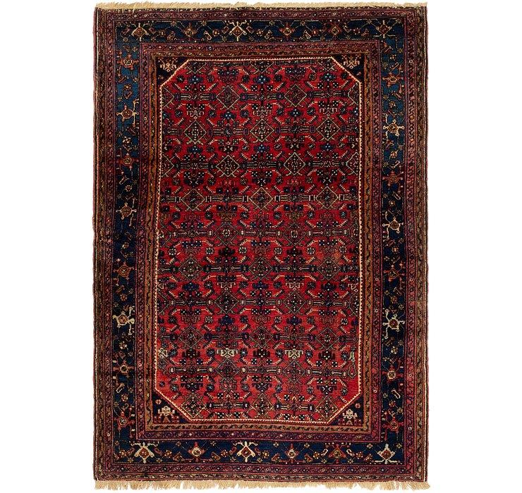 4' 5 x 6' 4 Hossainabad Persian Rug