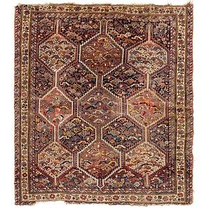 4' 8 x 5' 5 Shiraz Persian Rug