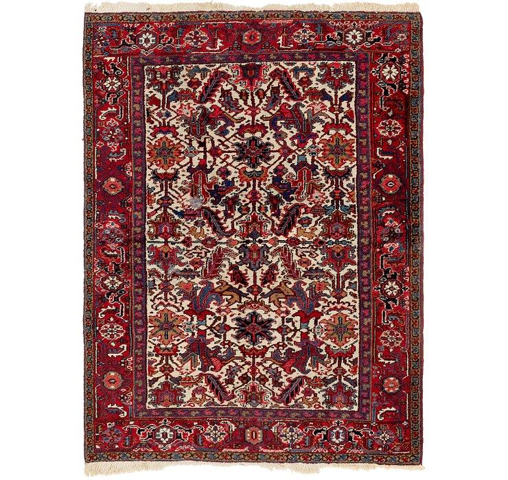 6' x 8' Heriz Persian Rug