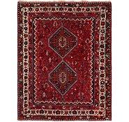 Link to 5' 7 x 7' Ghashghaei Persian Rug