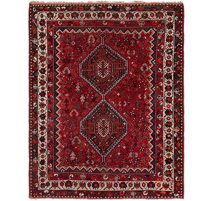 5' 7 x 7' Ghashghaei Persian Rug