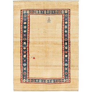 5' 8 x 8' Shiraz-Gabbeh Persian Rug