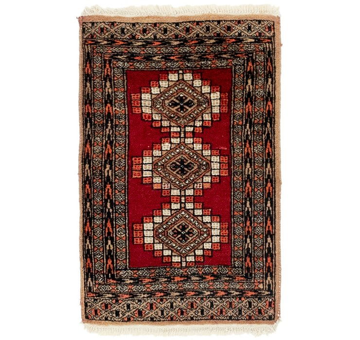 HandKnotted 1' 6 x 2' 4 Bokhara Oriental Rug