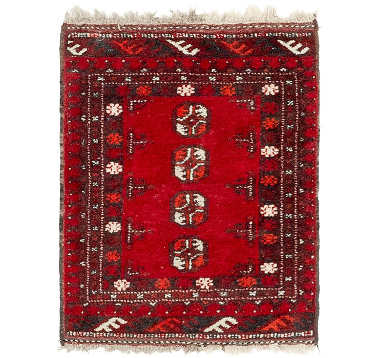 HandKnotted 1' 9 x 2' 4 Afghan Akhche Rug