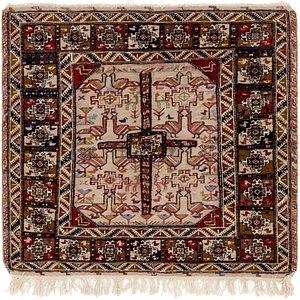 3' 9 x 3' 9 Sirjan Persian Square Rug