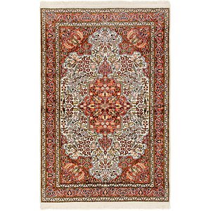 Link to 3' 6 x 5' 6 Kashmir Oriental Rug item page