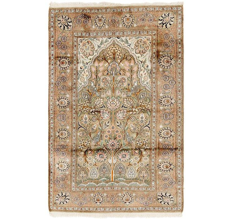 4' x 6' 5 Kashmir Oriental Rug