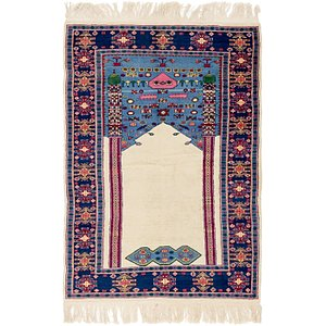 HandKnotted 4' x 5' 10 Lahour Oriental Rug