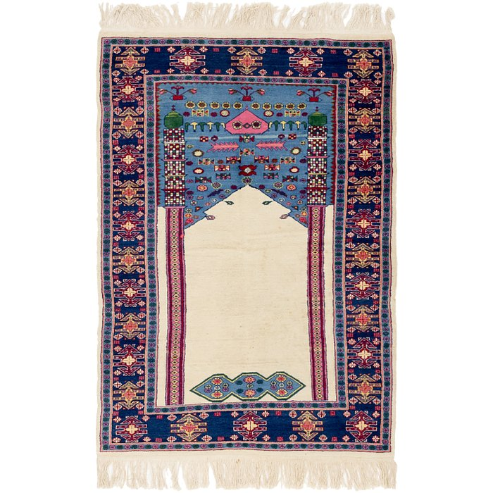 4' x 5' 10 Lahour Oriental Rug