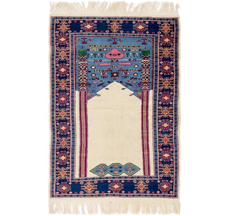 4' x 5' 10 Lahour Oriental Rug