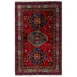 4' x 6' 5 Kazak Oriental Rug