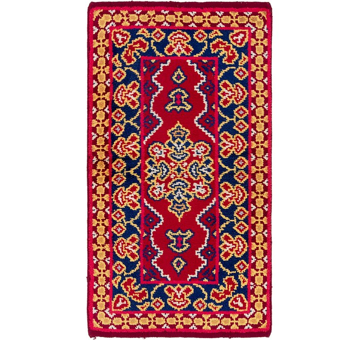 HandKnotted 3' x 5' 10 Moroccan Runner Rug