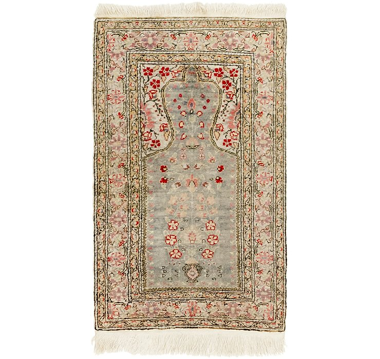2' x 3' 4 Lahour Oriental Rug