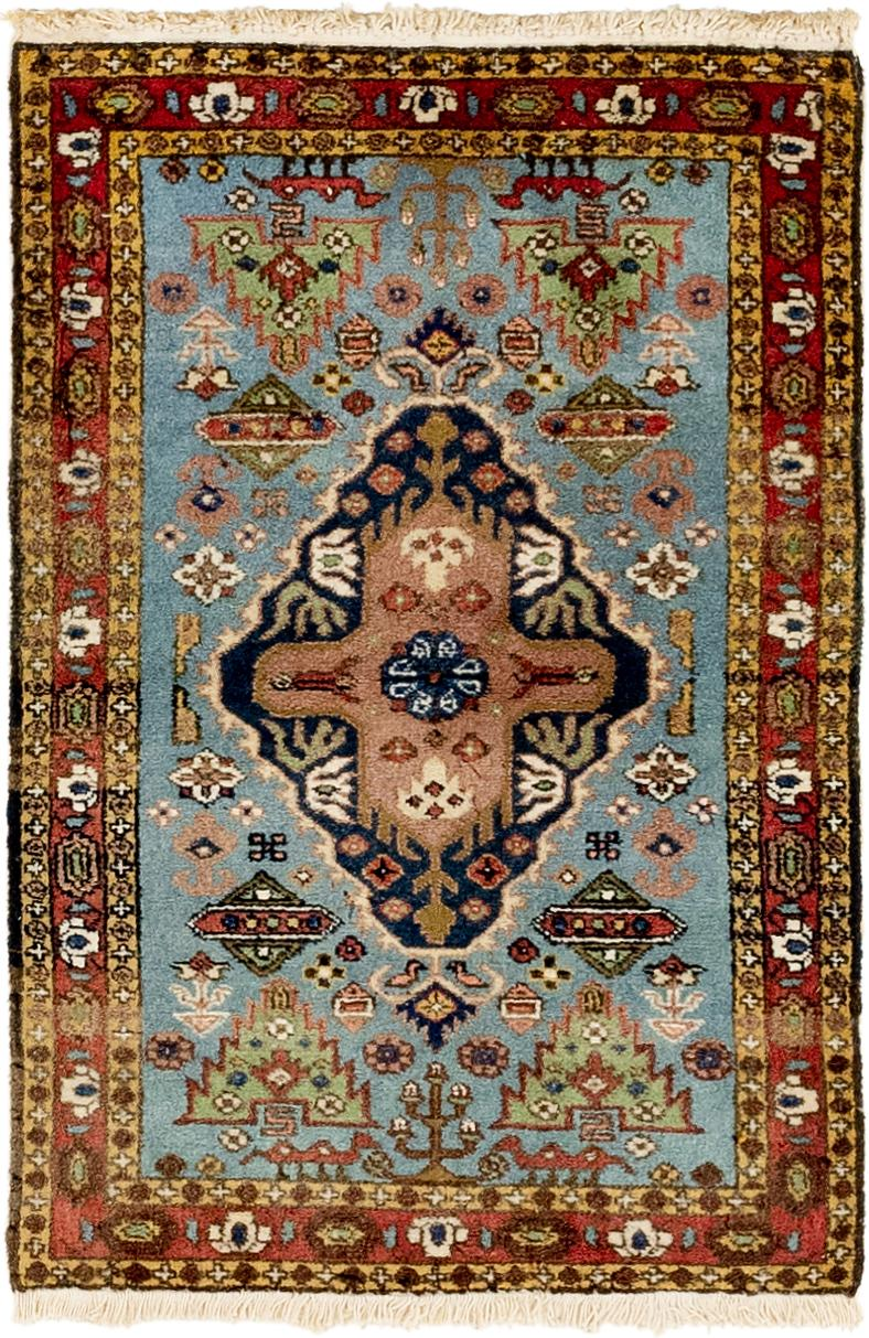 Blue 2 3 X 3 4 Romani Rug Area Rugs Handknotted Com