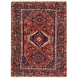Link to 147cm x 195cm Gharajeh Persian Rug item page