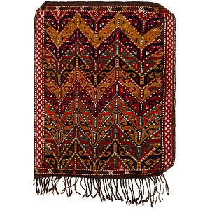 HandKnotted 3' x 3' 10 Kilim Fars Persian Rug