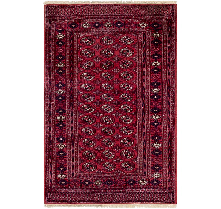 4' 2 x 6' 3 Bokhara Oriental Rug