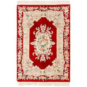 4' x 6' 2 Carved Pekin Persian Rug