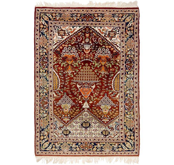 4' 2 x 6' 2 Lahour Oriental Rug