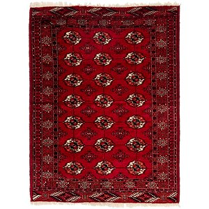 Link to 122cm x 168cm Torkaman Persian Rug item page