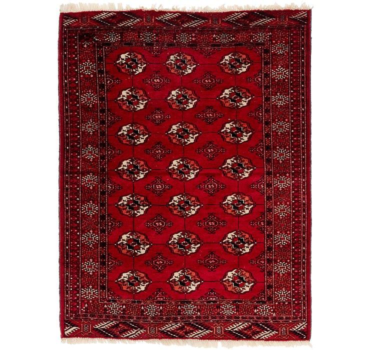 4' x 5' 6 Torkaman Persian Rug