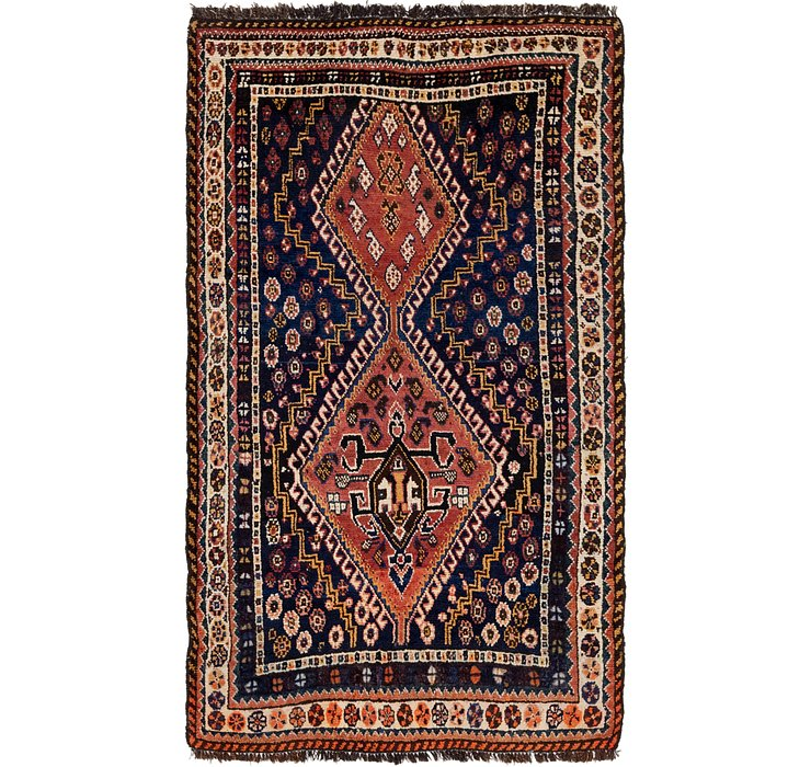 3' 8 x 6' 2 Ghashghaei Persian Rug