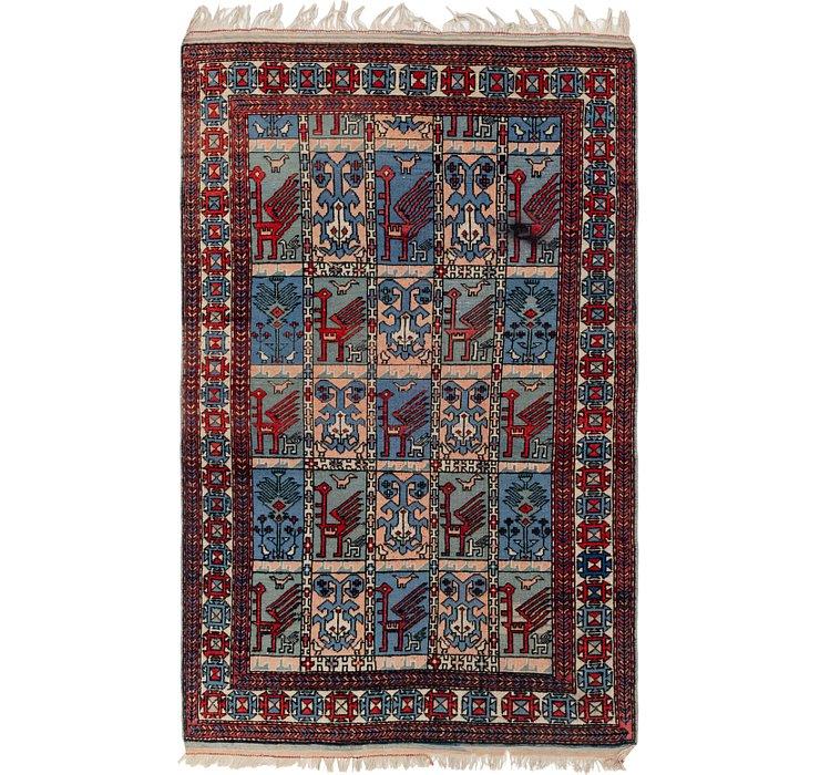 4' 5 x 7' Kars Oriental Rug