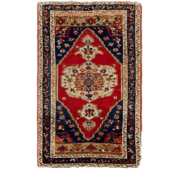 1' 10 x 3' Anatolian Oriental Rug