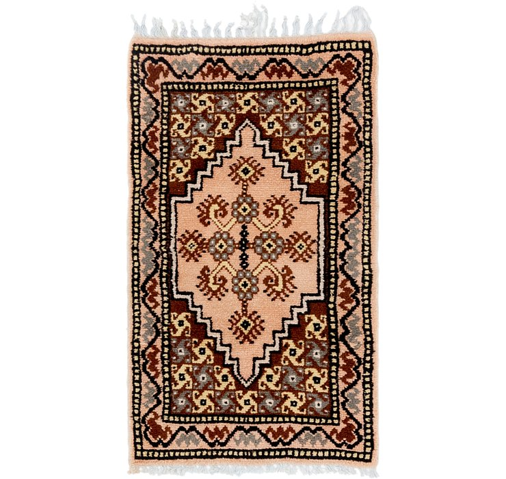 HandKnotted 2' 2 x 3' 10 Moroccan Rug