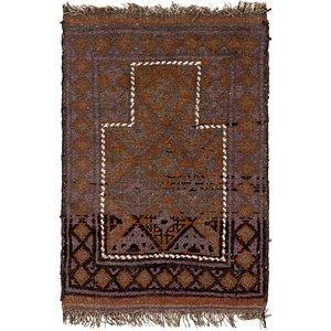 2' 7 x 3' 8 Balouch Persian Rug
