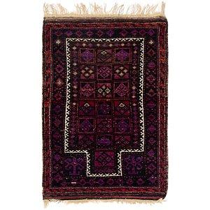 2' 7 x 4' 2 Balouch Persian Rug