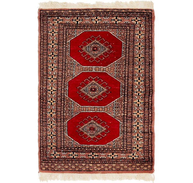 HandKnotted 2' 7 x 4' Bokhara Oriental Rug