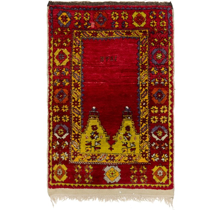 2' 6 x 4' Anatolian Oriental Rug