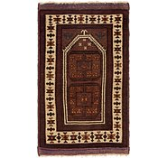 Link to 2' 4 x 4' Balouch Persian Rug