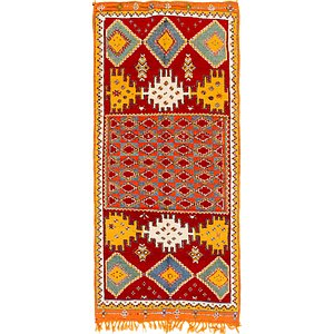 HandKnotted 4' 9 x 10' 4 Moroccan Runner Rug
