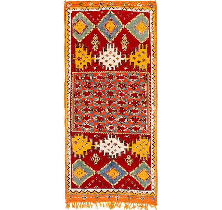 4' 9 x 10' 4 Moroccan Runner Rug