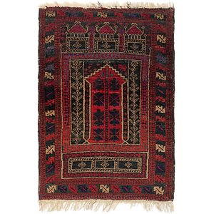 HandKnotted 2' 9 x 4' Balouch Persian Rug