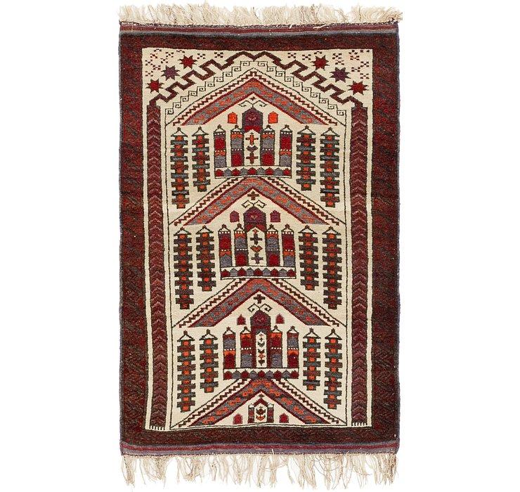 2' 8 x 4' 6 Balouch Persian Rug