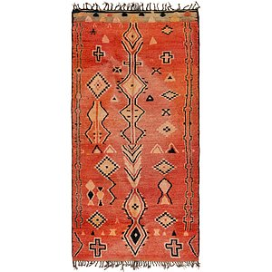HandKnotted 6' 3 x 13' Moroccan Runner Rug