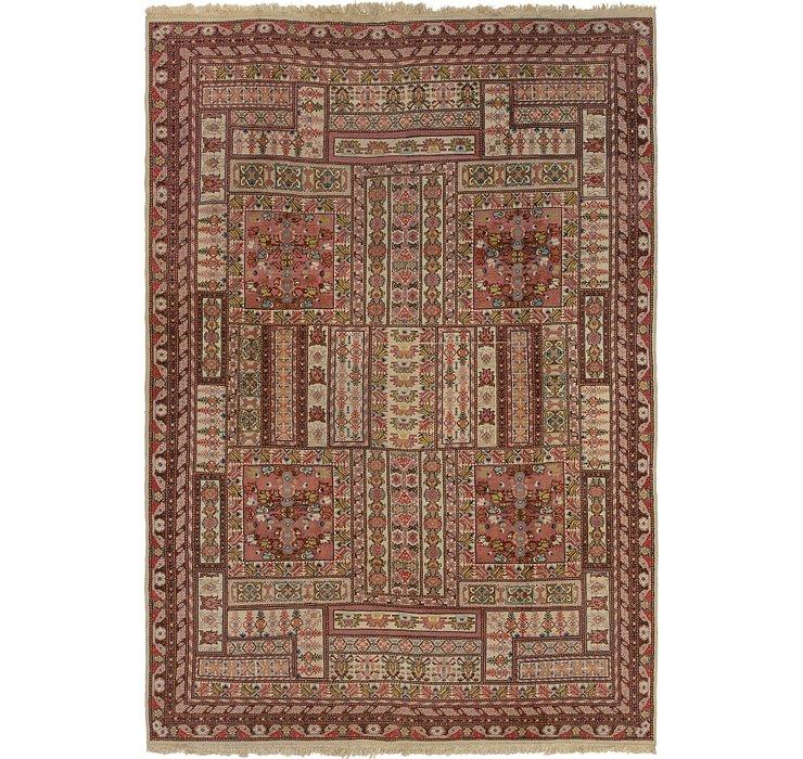 6' 7 x 9' 8 Anatolian Oriental Rug