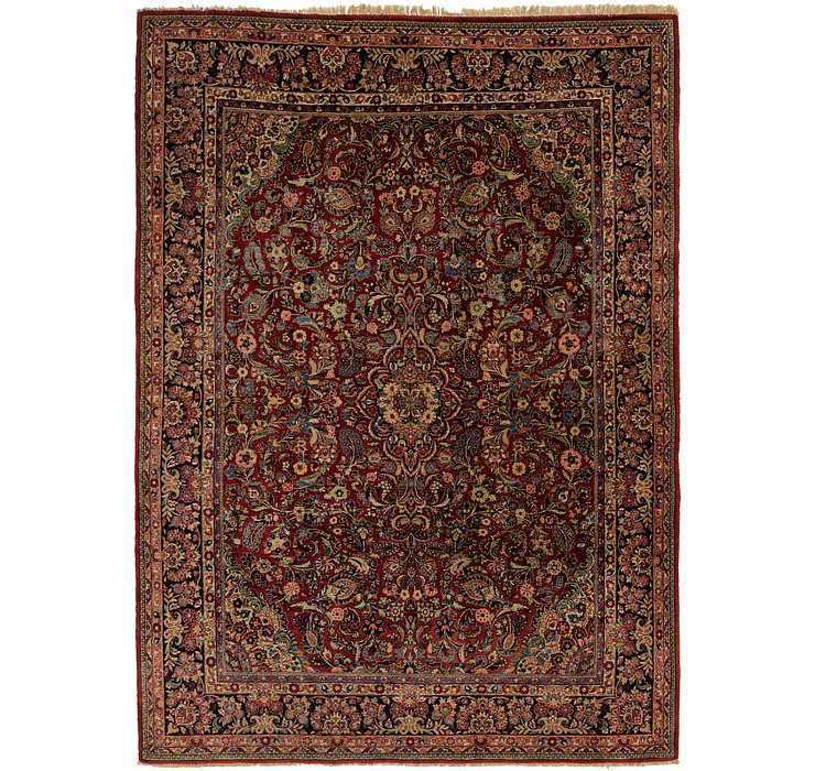 8' 7 x 12' Sarough Persian Rug